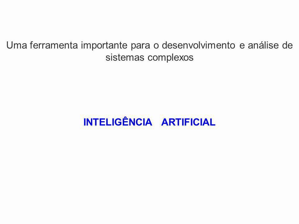 Uma ferramenta importante para o desenvolvimento e análise de sistemas complexos INTELIGÊNCIA ARTIFICIAL