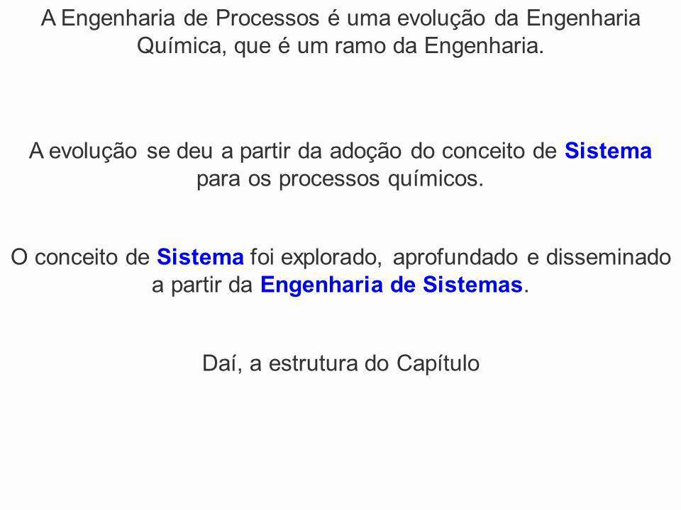 A Engenharia de Processos é uma evolução da Engenharia Química, que é um ramo da Engenharia. A evolução se deu a partir da adoção do conceito de Siste