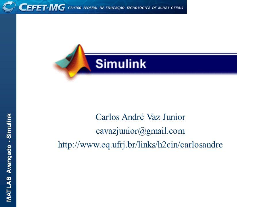 MATLAB Avançado - Simulink Carlos André Vaz Junior cavazjunior@gmail.com http://www.eq.ufrj.br/links/h2cin/carlosandre