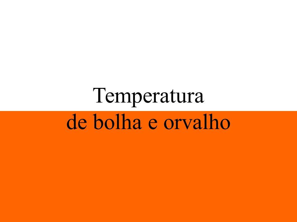 Temperatura de bolha e orvalho