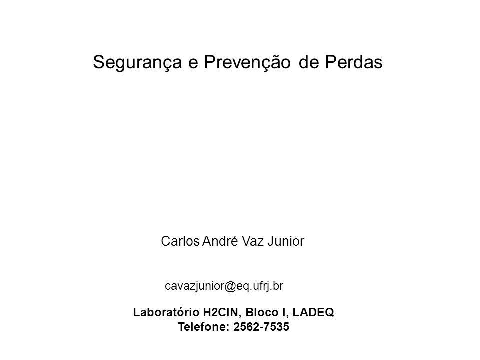 Segurança e Prevenção de Perdas Carlos André Vaz Junior cavazjunior@eq.ufrj.br Laboratório H2CIN, Bloco I, LADEQ Telefone: 2562-7535