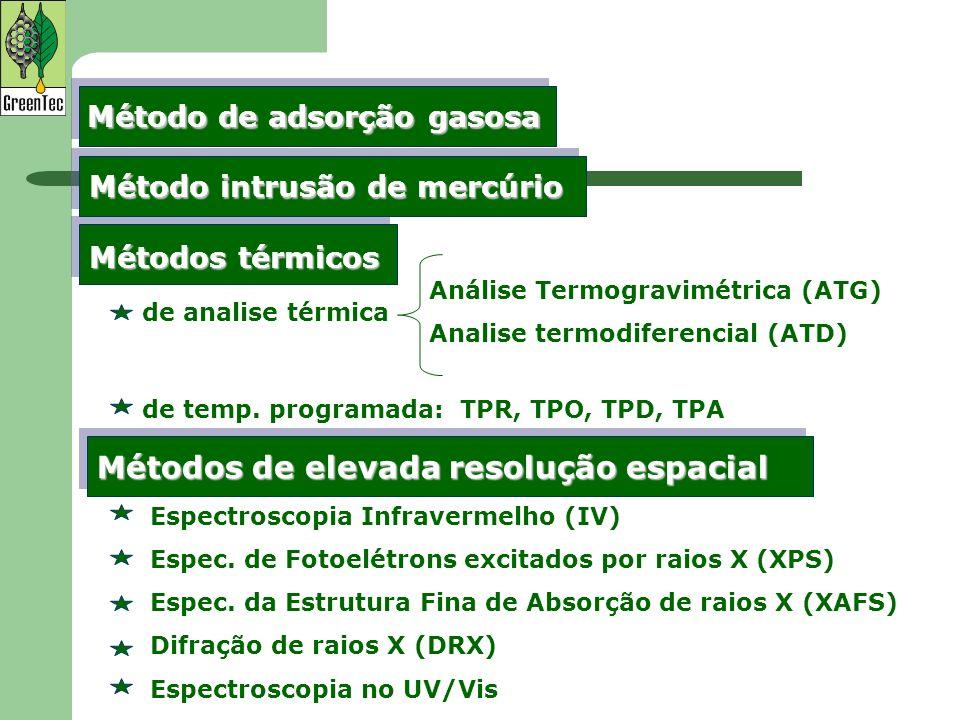 Vários modelos são propostos na literatura para determinar o volume de gás adsorvido (Vm) em função da pressão relativa.