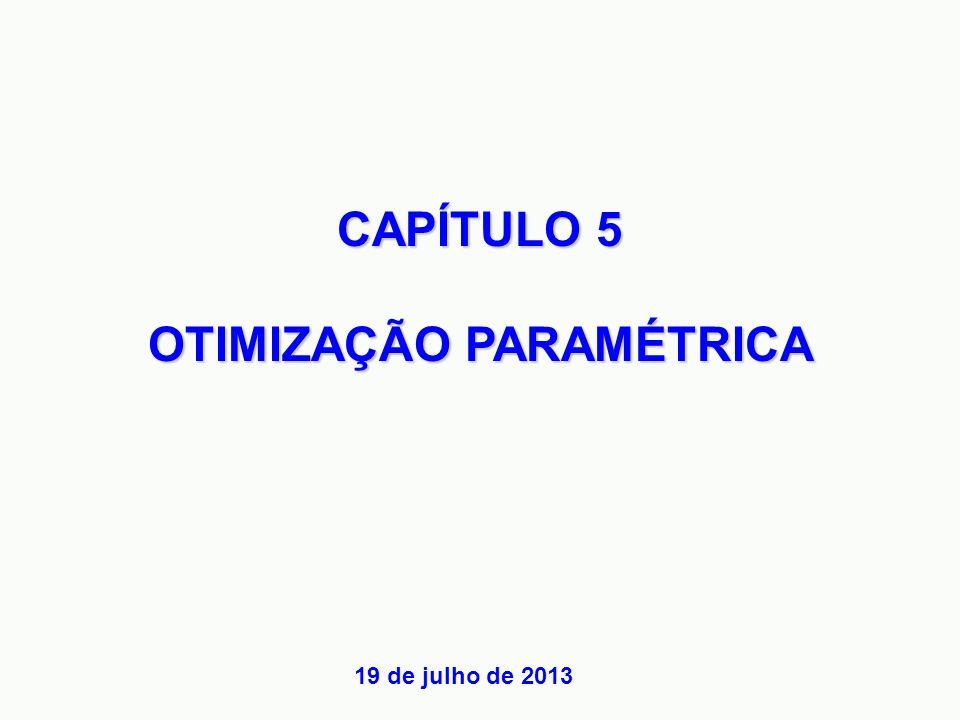 CAPÍTULO 5 OTIMIZAÇÃO PARAMÉTRICA 19 de julho de 2013