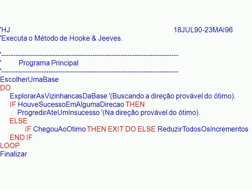 'HJ 18JUL90-23MAI96 'Executa o Método de Hooke & Jeeves. '---------------------------------------------------------------------------- ' Programa Prin