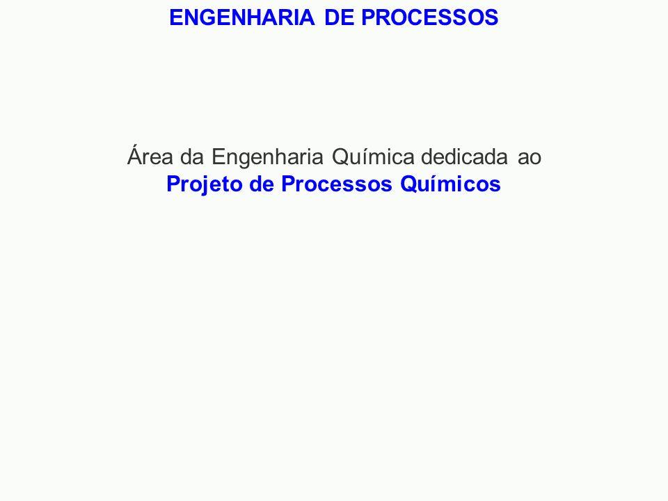 Área da Engenharia Química dedicada ao Projeto de Processos Químicos ENGENHARIA DE PROCESSOS