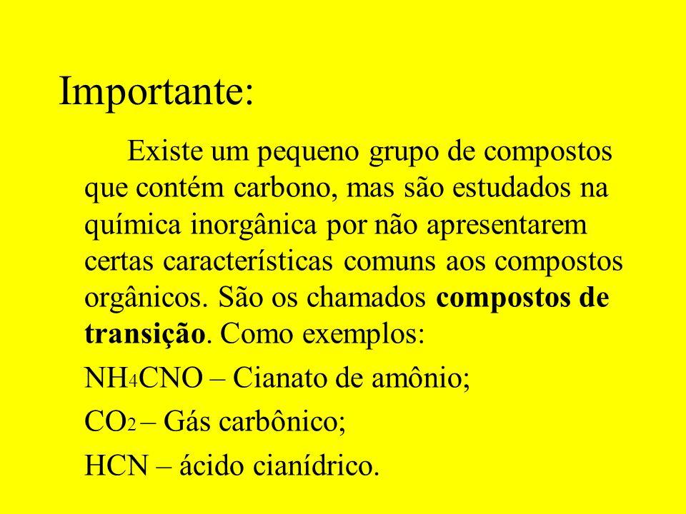 Conceito atual: É um ramo da Química que estuda os compostos do elemento carbono, denominados compostos orgânicos.