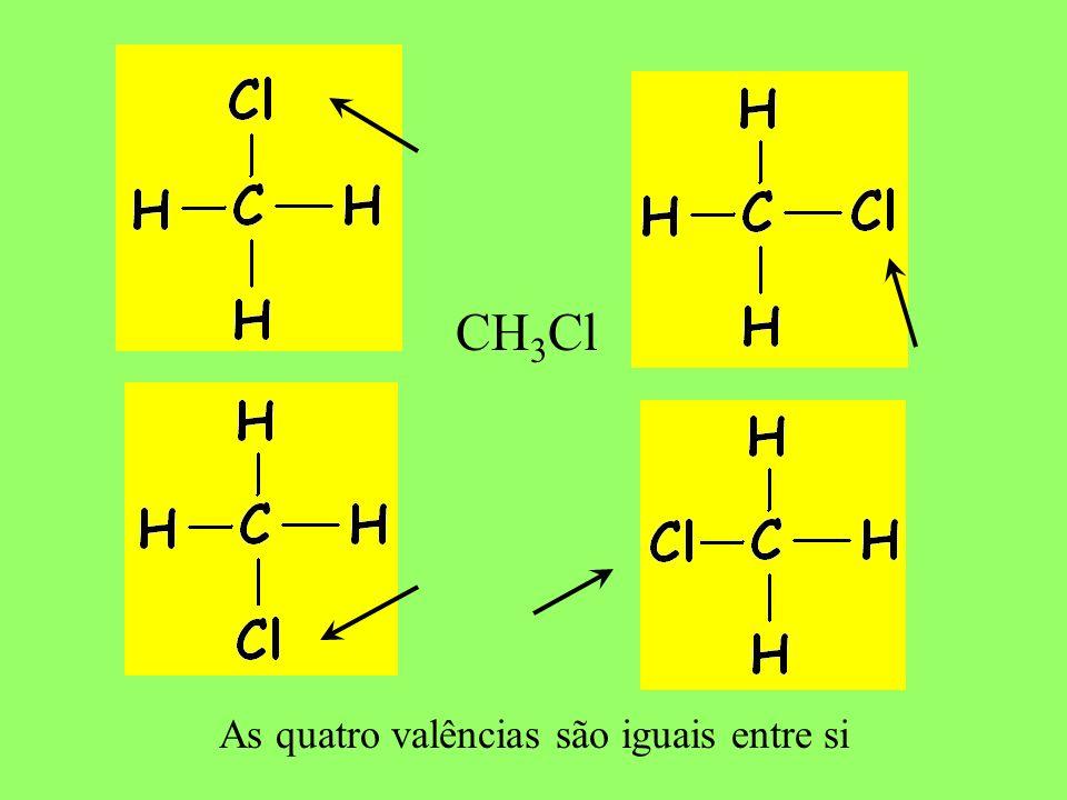 O carbono é tetravalente Trata-se do primeiro postulado de Kekulé, que atribui ao carbono a possibilidade de quatro ligações.
