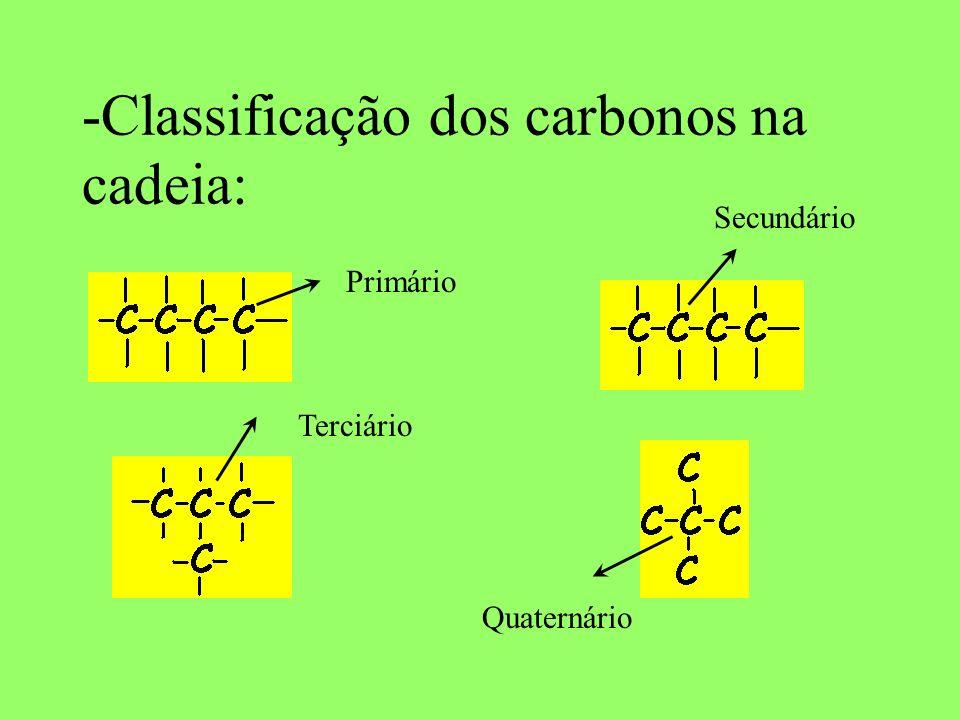 - Quanto à natureza dos átomos: Homogênea: Na cadeia, existe apenas átomos de carbono Heterogênea: Na cadeia, existe átomos de outros elementos (heteroátomos)