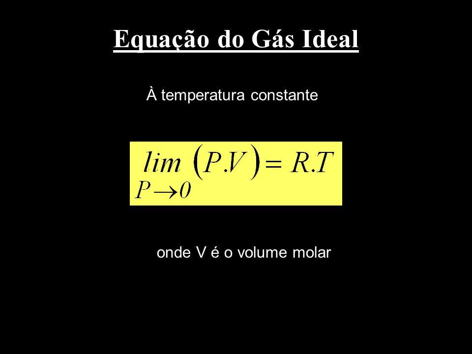 Comportamento PVT calculado pela equação de van der Waals