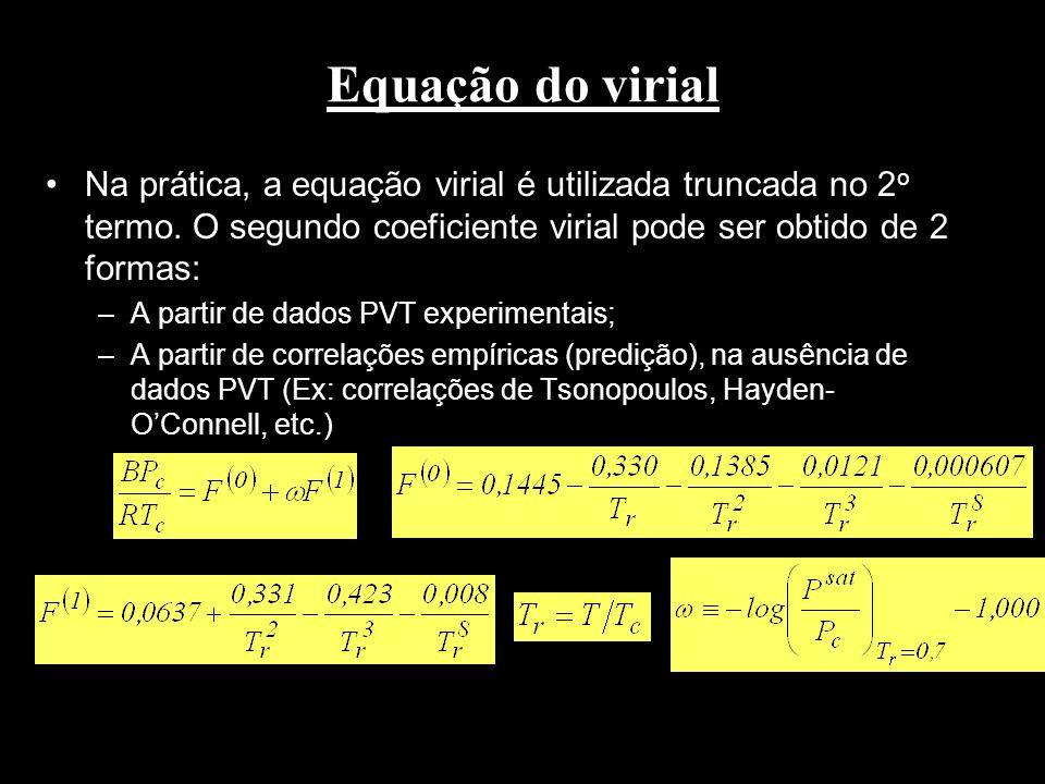 Observação Em muitos sistemas a Lei de Raoult usa como estado de referência o líquido puro saturado, na mesma T e P da mistura.