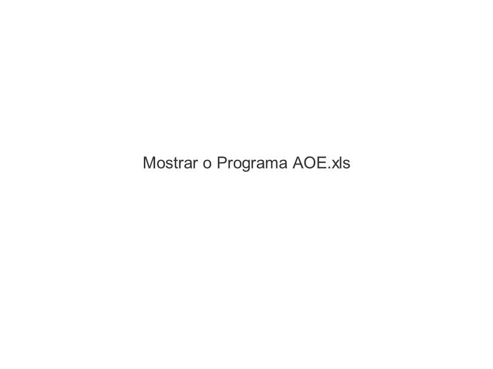 Mostrar o Programa AOE.xls