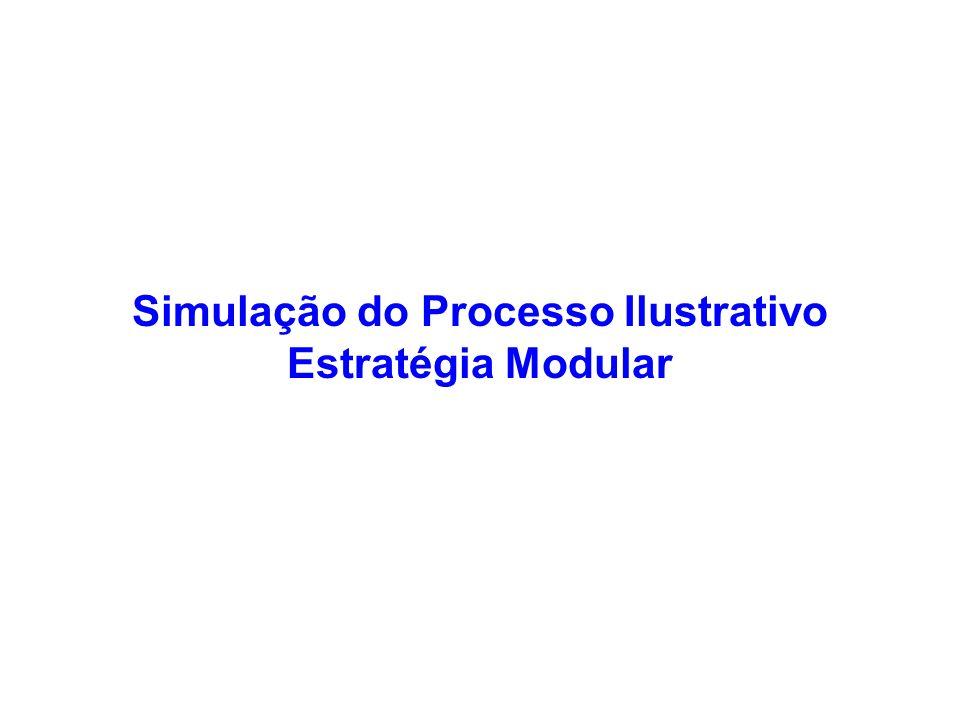 Simulação do Processo Ilustrativo Estratégia Modular