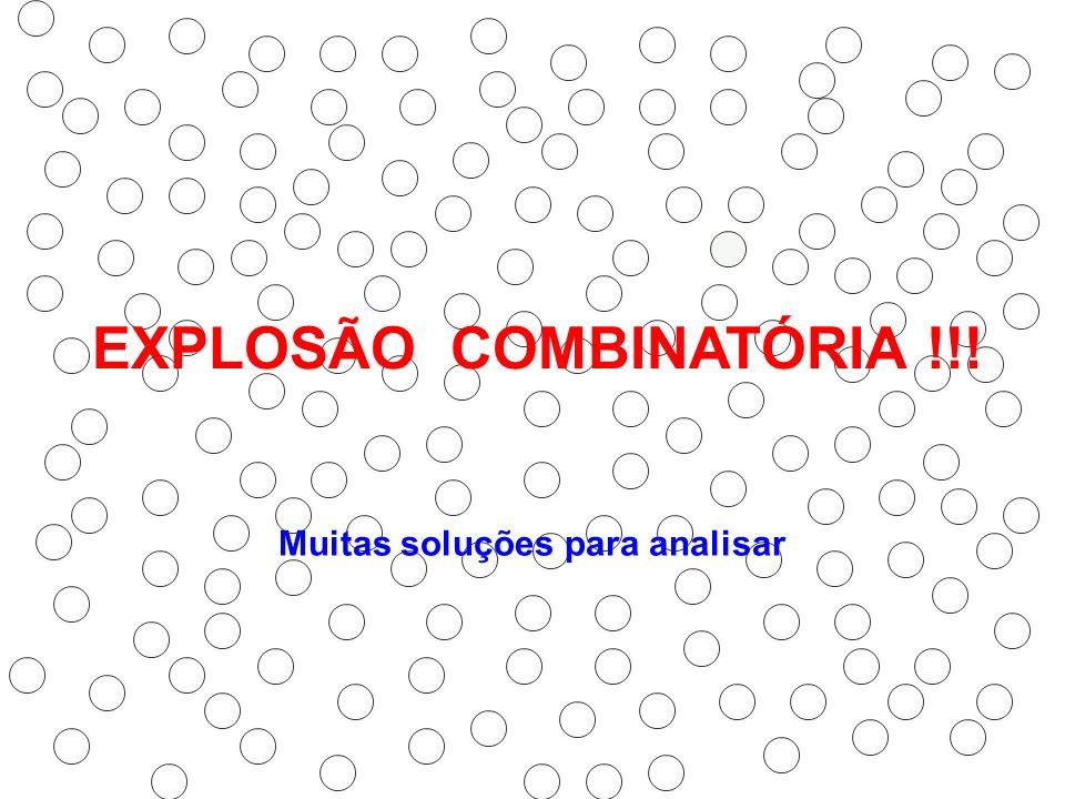 EXPLOSÃO COMBINATÓRIA !!! Muitas soluções para analisar