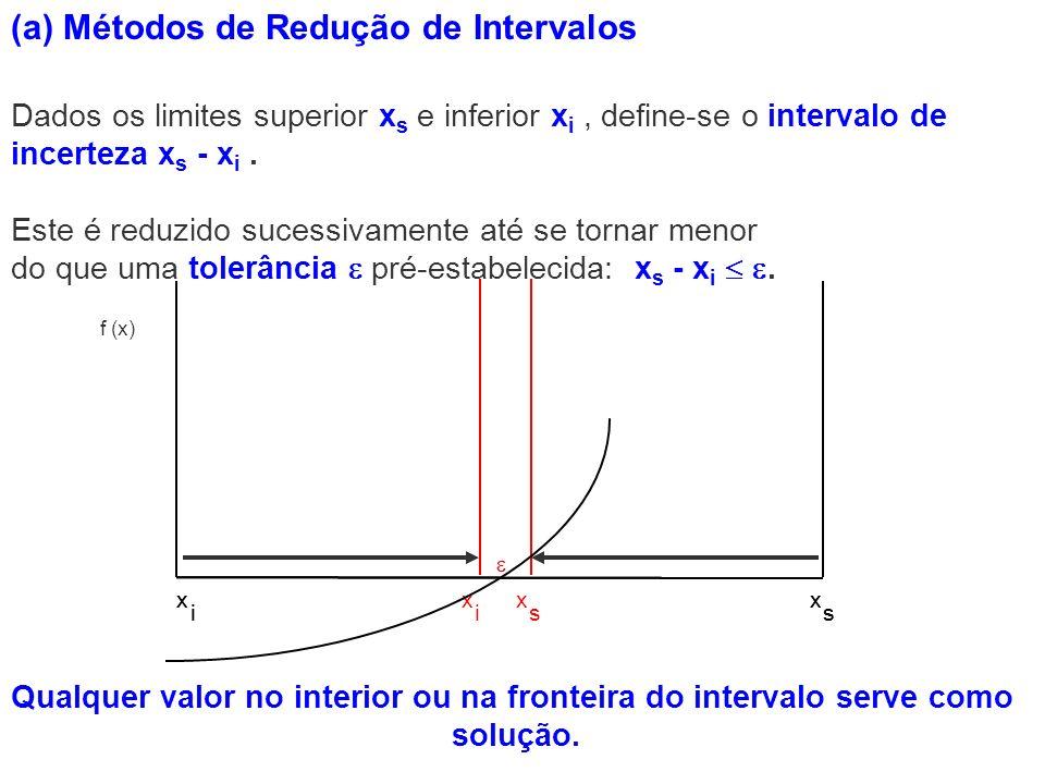 Dados os limites superior x s e inferior x i, define-se o intervalo de incerteza x s - x i. Qualquer valor no interior ou na fronteira do intervalo se