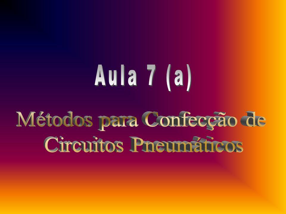 1.Classificação dos Processos para Elaboração de Circuitos Pneumáticos Seqüênciais 2.Processo Intuitivo 3.Observações Gerais sobre formas de representação em esquemas 4.Método Cascata 5.Exemplos de Utilização do Método Cascata 6.Método Passo-a-Passo 7.Tabela Seqüêncial na manutenção de Circuitos Pneumáticos 8.Sistemas de Comando Adicionais e Técnicas Especiais 9.Condições Adicionais utilizando a Técnica Pneumática