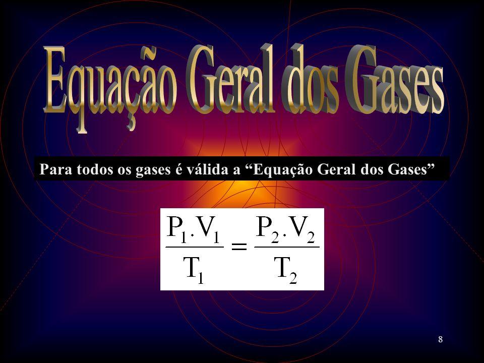 8 Para todos os gases é válida a Equação Geral dos Gases