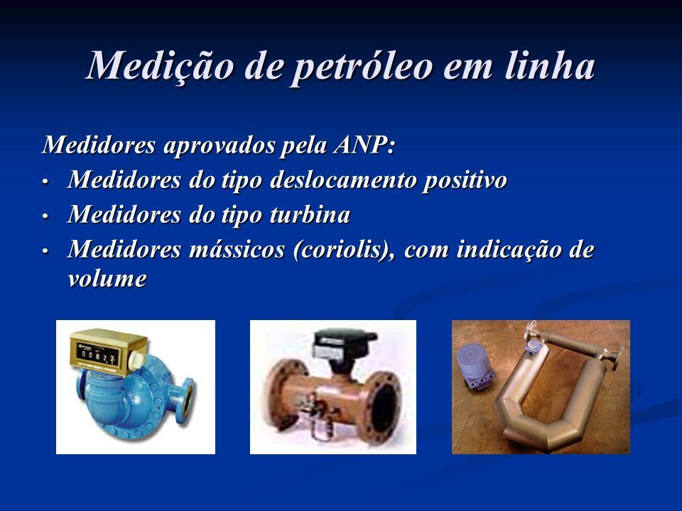 Medição de petróleo em linha Medidores aprovados pela ANP: Medidores do tipo deslocamento positivo Medidores do tipo deslocamento positivo Medidores d