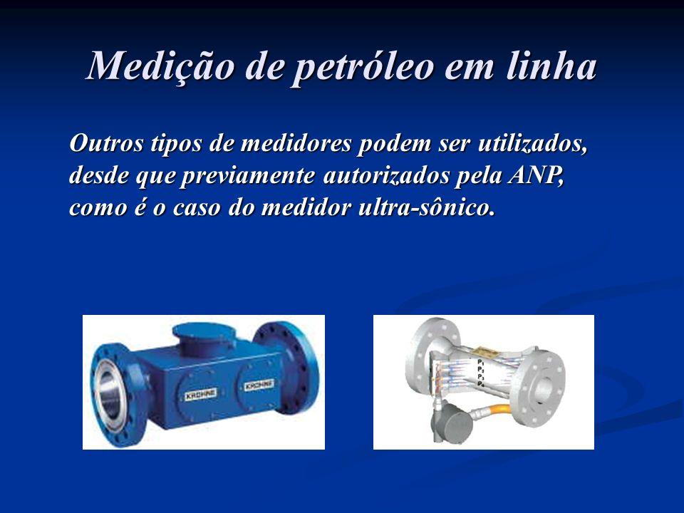 Outros tipos de medidores podem ser utilizados, desde que previamente autorizados pela ANP, como é o caso do medidor ultra-sônico. Medição de petróleo