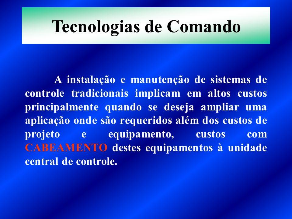 A instalação e manutenção de sistemas de controle tradicionais implicam em altos custos principalmente quando se deseja ampliar uma aplicação onde são