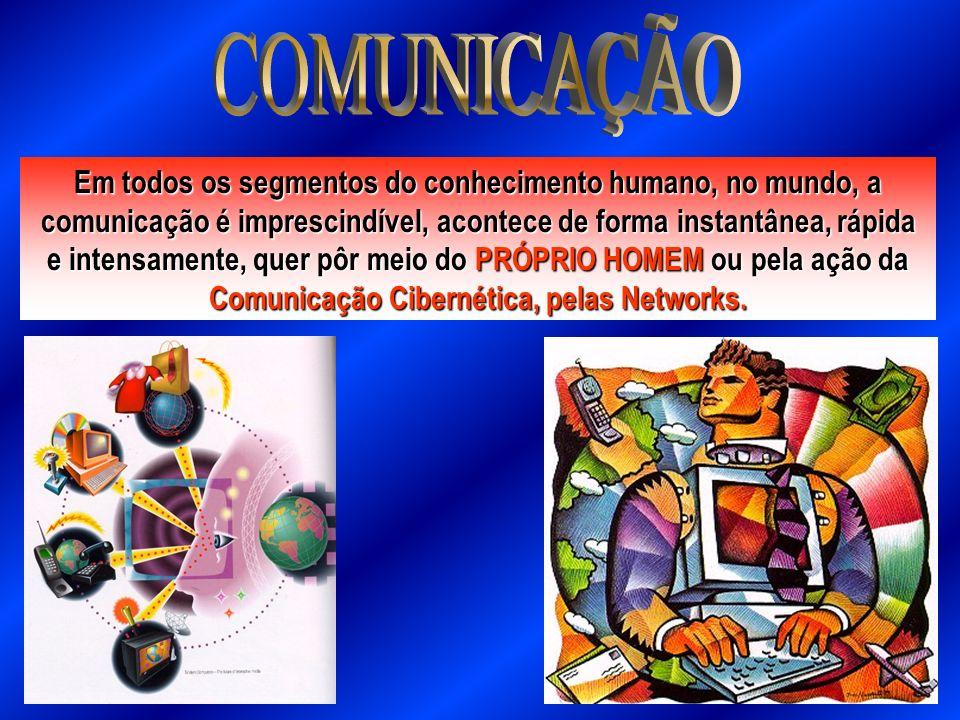 Em todos os segmentos do conhecimento humano, no mundo, a comunicação é imprescindível, acontece de forma instantânea, rápida e intensamente, quer pôr