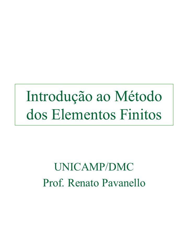 Introdução ao Método dos Elementos Finitos UNICAMP/DMC Prof. Renato Pavanello