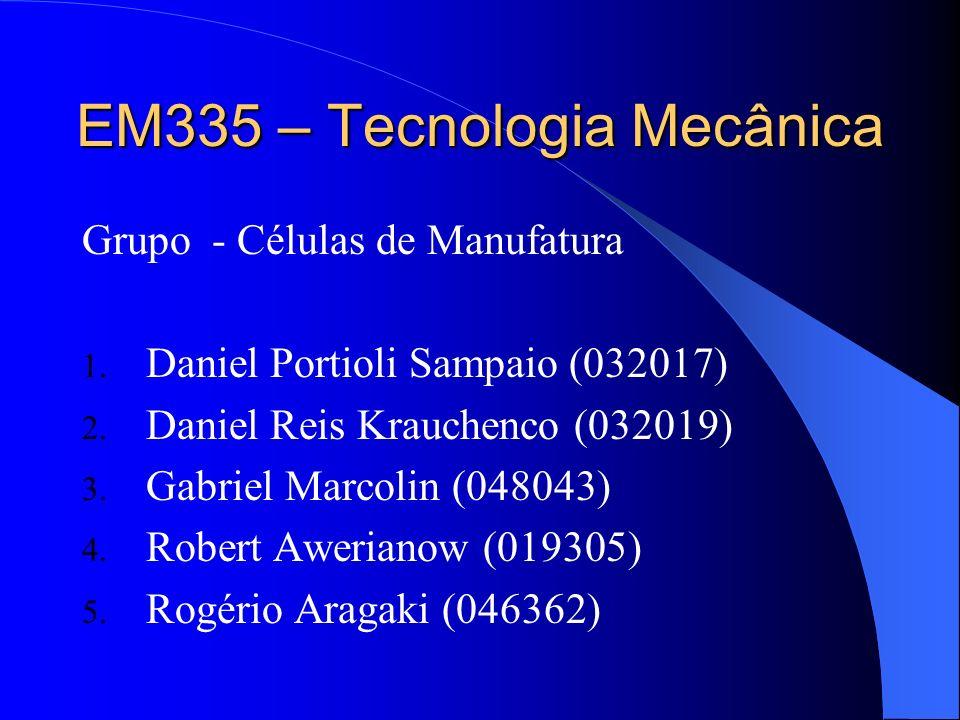 EM335 – Tecnologia Mecânica Grupo - Células de Manufatura 1. Daniel Portioli Sampaio (032017) 2. Daniel Reis Krauchenco (032019) 3. Gabriel Marcolin (