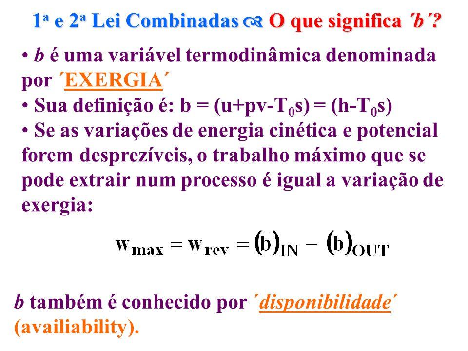 1 a e 2 a Lei Combinadas O que significa ´b´? b também é conhecido por ´disponibilidade´ (availiability). b é uma variável termodinâmica denominada po