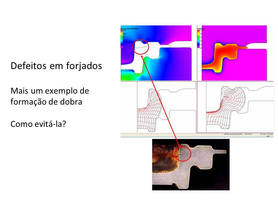Defeitos em forjados Mais um exemplo de formação de dobra Como evitá-la?