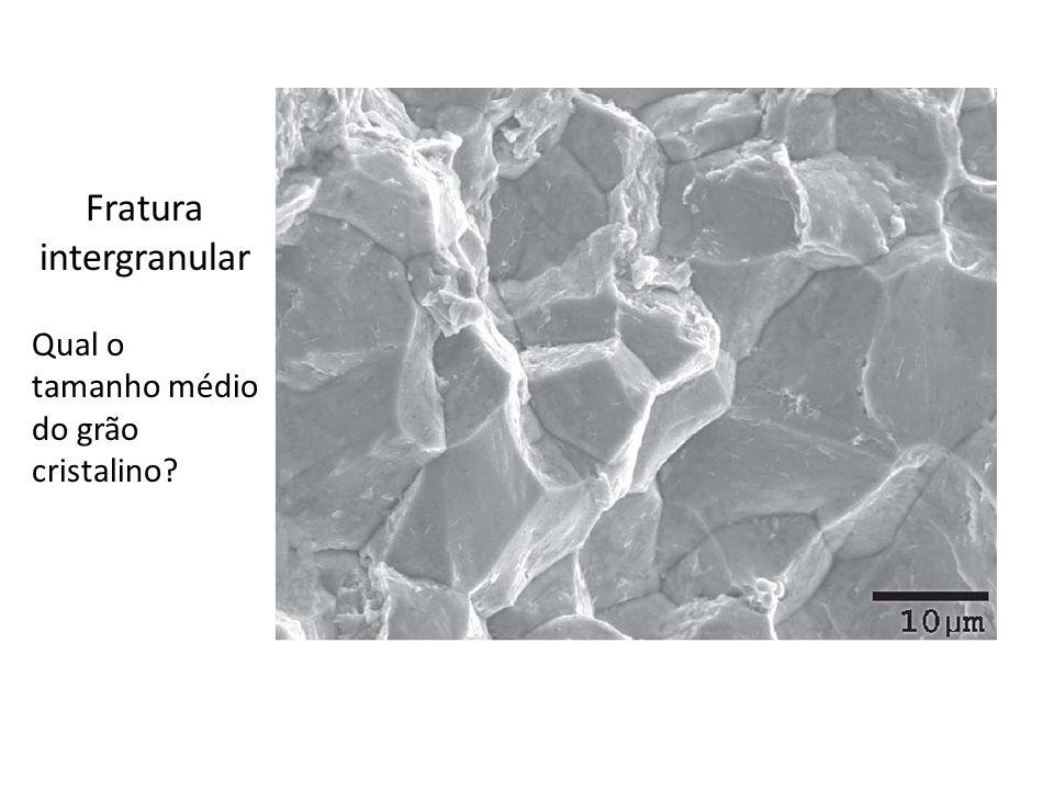 Fratura intergranular Qual o tamanho médio do grão cristalino?