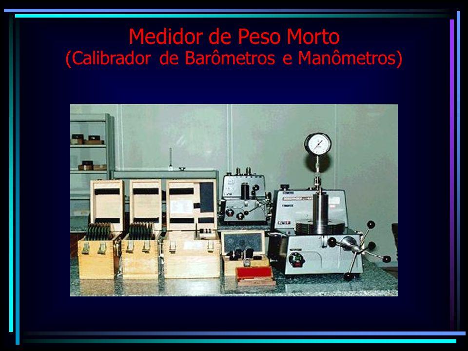 Medidor de Peso Morto (Calibrador de Barômetros e Manômetros)