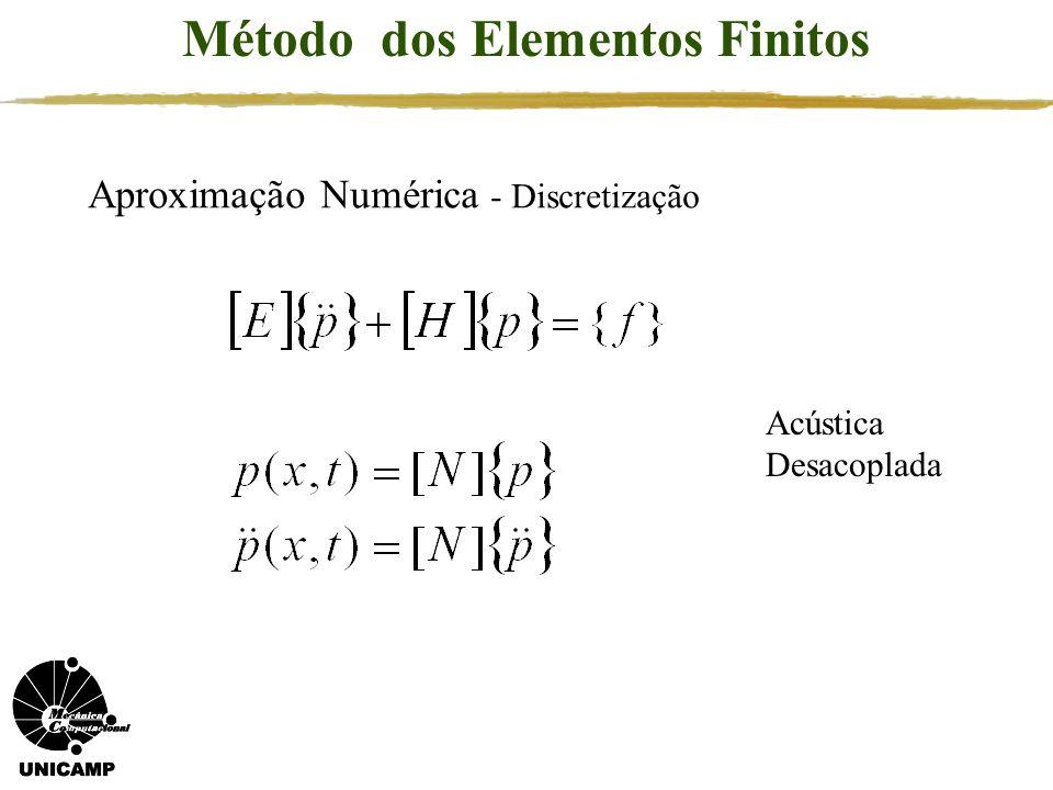 Método dos Elementos Finitos Aproximação Numérica - Discretização Acústica Desacoplada