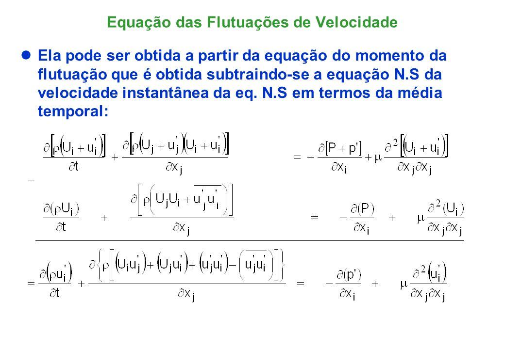 O operador Navier-Stokes (N(*)) Definindo o operador Navier-Stokes das flutuações de velocidade, N(u i ):