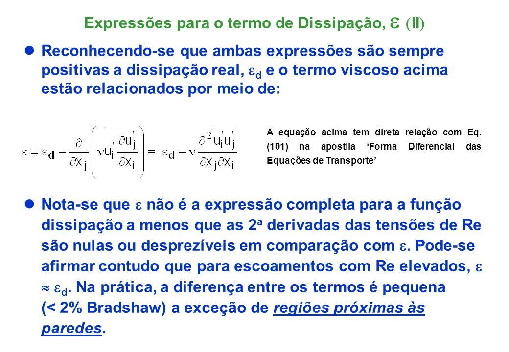 A funções d são coincidentes para turbulência isotrópica (G.I.Taylor).