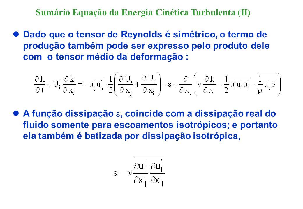 A equação para é obtida tomando-se a média temporal do operador: onde N(u i ) é o operador Navier-Stokes para as flutuações de velocidade.