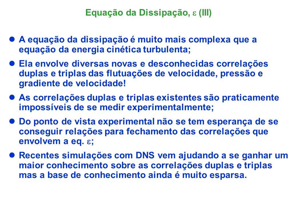 A forma exata da equação da dissipação não é útil para ser o ponto inicial de desenvolvimento de um modelo.