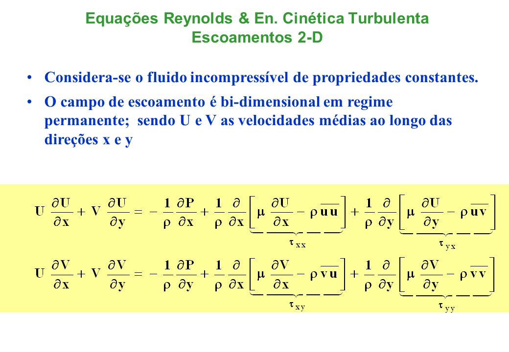 Equações Reynolds & En.