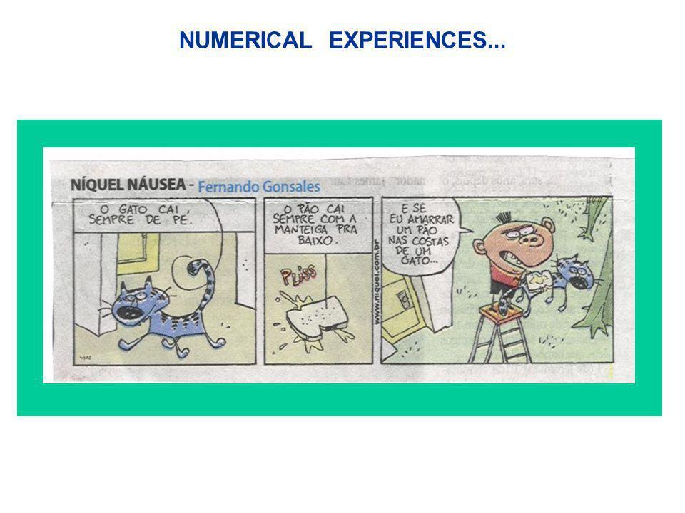 NUMERICAL EXPERIENCES...
