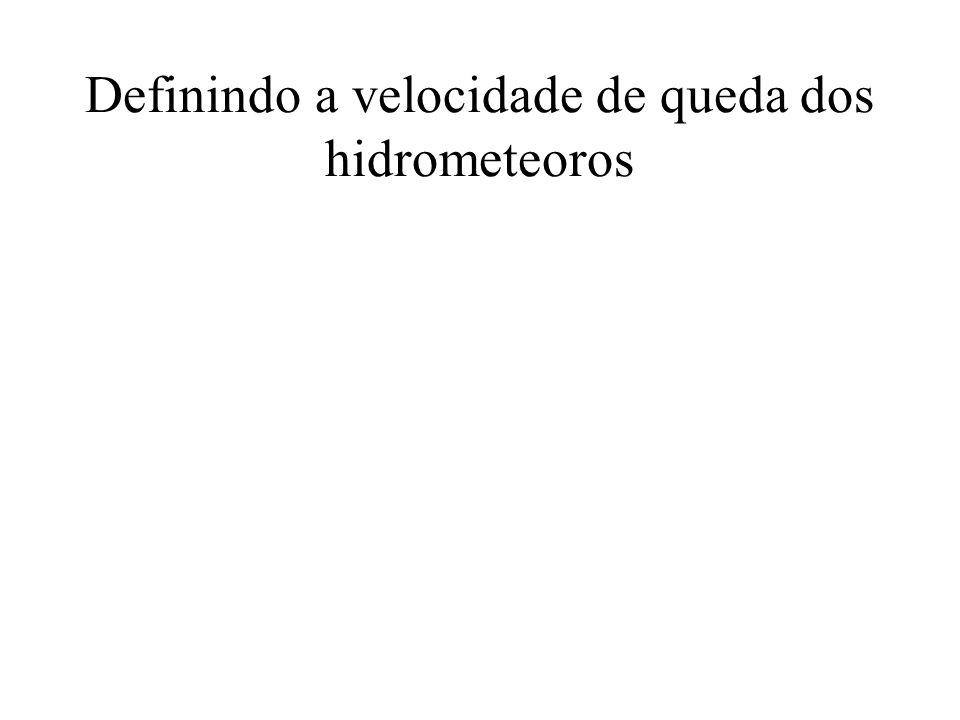 Definindo a velocidade de queda dos hidrometeoros