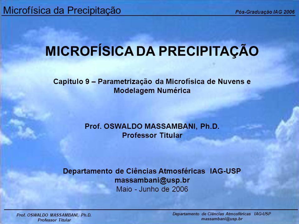 Microfísica da Precipitação Pós-Graduação IAG 2006 ___________________________________________________________________________________________ Prof.