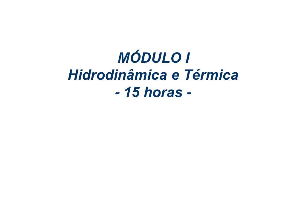 FENÔMENOS DE TRANSPORTE – CHEMTECH MÓDULO I – 23 a 27 Jan/06 Profs. Eugênio & Altemani MÓDULO I Hidrodinâmica e Térmica - 15 horas -