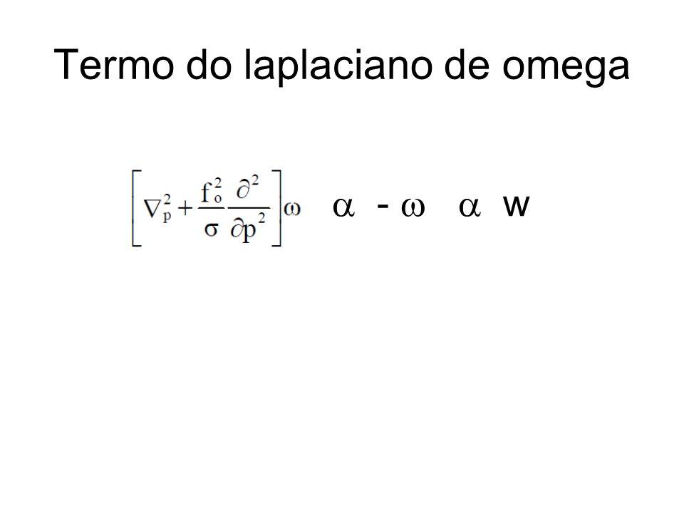 Termo do laplaciano de omega - w