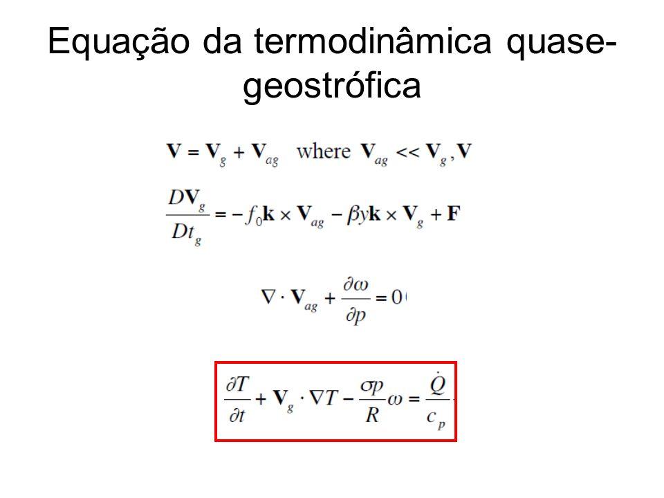 Equação da vorticidade QG A.Taxa de variação da vorticidade QG com o tempo depende de: B.