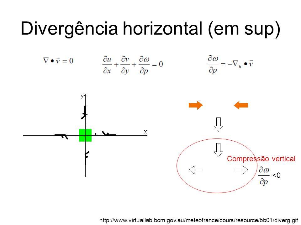 Divergência horizontal (em sup) http://www.virtuallab.bom.gov.au/meteofrance/cours/resource/bb01/diverg.gif Compressão vertical <0
