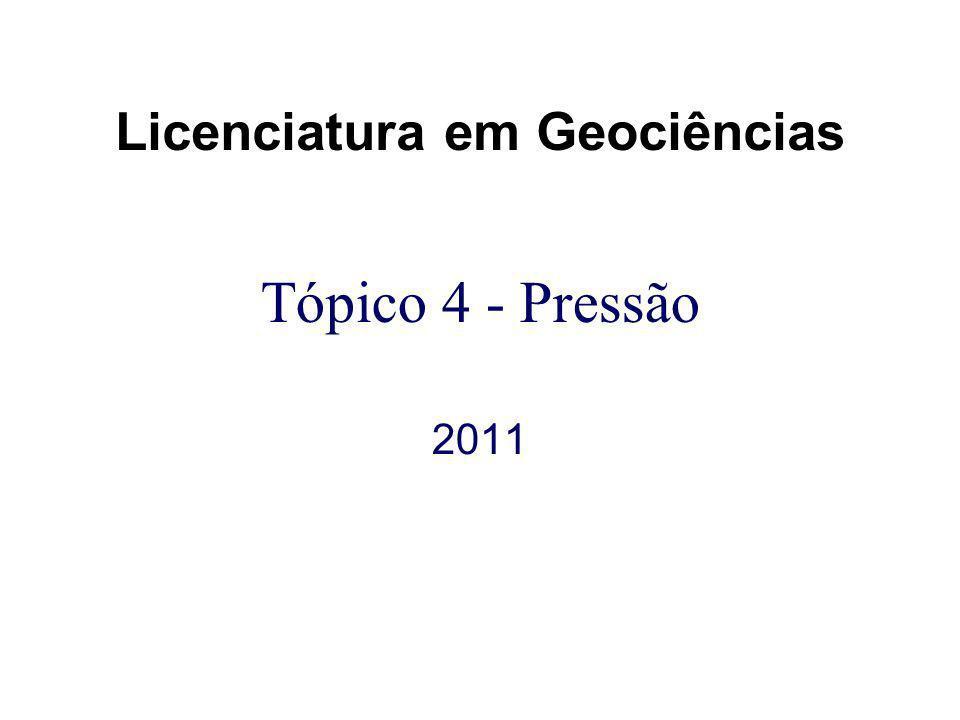 Tópico 4 - Pressão 2011 Licenciatura em Geociências