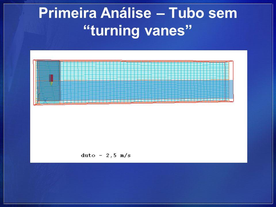 Primeira Análise – Tubo sem turning vanes