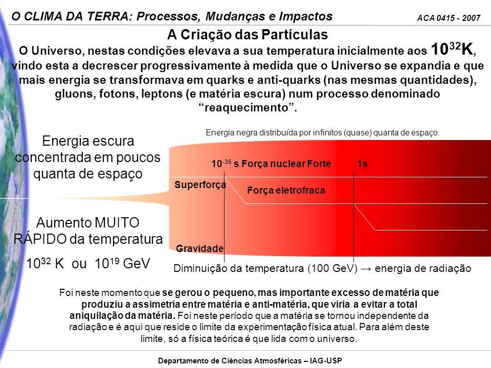 ACA 0415 - 2007 O CLIMA DA TERRA: Processos, Mudanças e Impactos Departamento de Ciências Atmosféricas – IAG-USP Energia negra distribuída por infinit