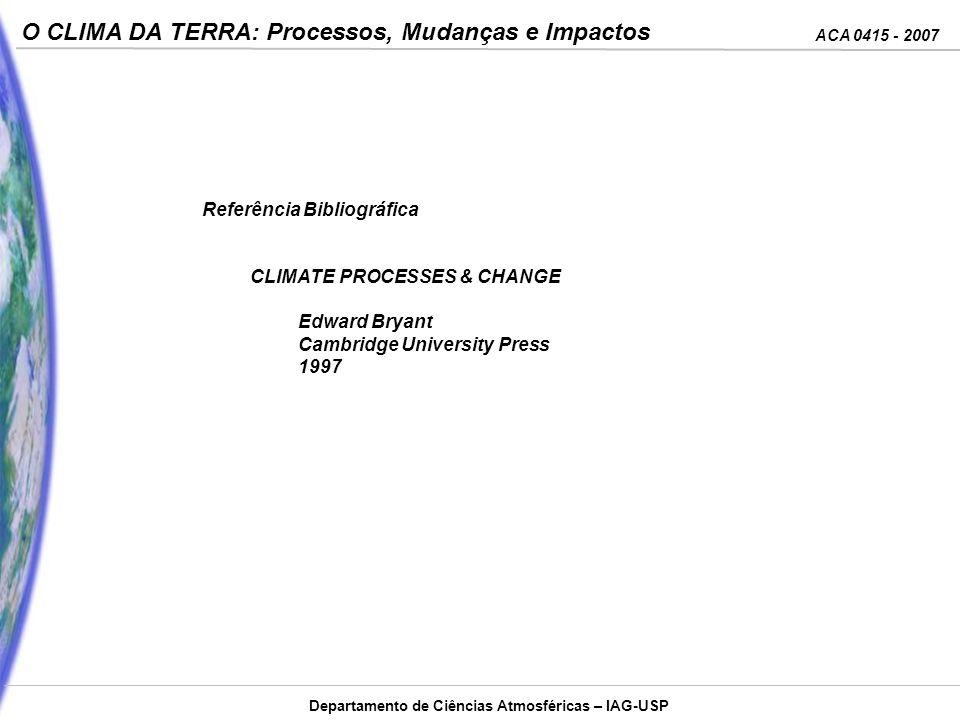 ACA 0415 - 2007 O CLIMA DA TERRA: Processos, Mudanças e Impactos Departamento de Ciências Atmosféricas – IAG-USP Existem quatro interações fundamentais entre as partículas, e todas as forças no mundo podem ser atribuídas a essas quatro interações.