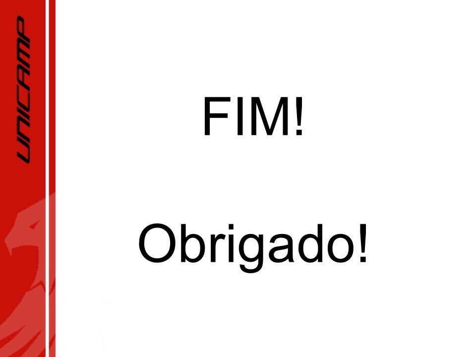 FIM! Obrigado!