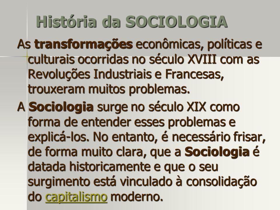 As transformações econômicas, políticas e culturais ocorridas no século XVIII com as Revoluções Industriais e Francesas, trouxeram muitos problemas. A