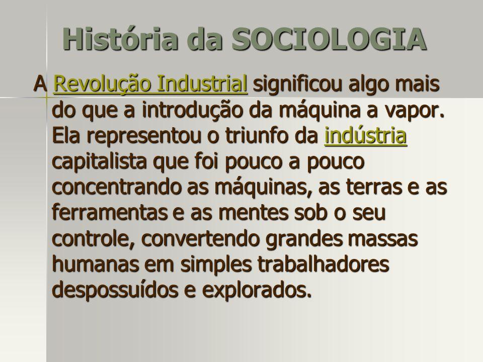 A Revolução Industrial significou algo mais do que a introdução da máquina a vapor. Ela representou o triunfo da indústria capitalista que foi pouco a